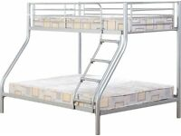 Can Deliver Today GOOD QUALITY Sturdy Triple Sleeper Bunk Bed Frame Double Bed Single Bed BRANDNEW
