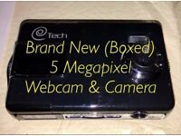 Brand New BRAND NEW IN BOX - Unused 5 Megapixel Webcam, Photo & Video Camera - SD Card