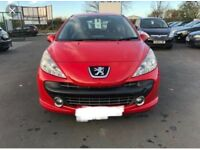 Stunning Red 2007 Peugeot 207 1.4 Petrol