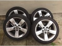 """BMW 17"""" INCH ALLOYS WITH TYRES 5X120 225/45/17"""