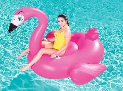 Salvagente gigante a forma di fenicottero mis:150x105cm per mare e piscina, lago