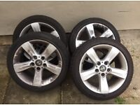 "BMW 17"" INCH ALLOYS WITH TYRES 5X120 225/45/ 17"