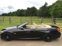 BMW 320d M-Sport Convertible 2008 Manual Black Diesel