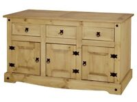 Corona Mexican Pine Living Room Furniture. coffee Table, sideboard and tv unit
