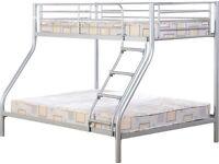 Tandi Triple Sleeper Bunk Bed - Silver