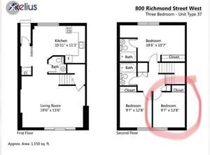 Room for rent in Queen West, Toronto! Move in June 1st