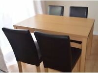 Dinning room table and 4 Chairs RRP£189.99