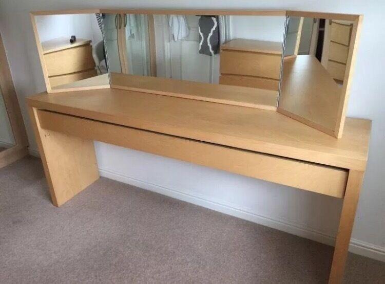 IKEA Malm Dressing Table Birch Wood