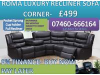 New 3 and 2 seater leather recliner sofa 665