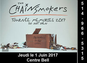 The Chainsmokers, 01/06/2017, Centre Bell, Rouge 102-F