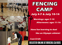 Olympic Fencing Summer Camp- Try something new!