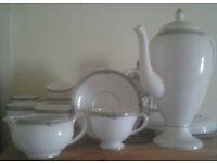 Wedgwood fine china Amherst Tea Set Platinum Gilding