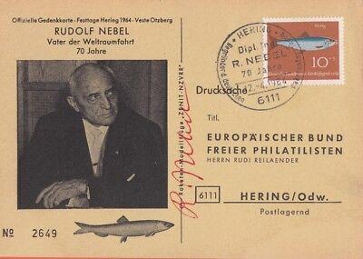 RUDOLF NEBEL --- original signiert - 8#11