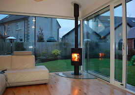 STOVE AND FLUE DEALS ** flexible flue liner twin wall slate hearths glass stick on brick modern