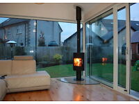 STOVE AND FLUE DEALS ** flexible flue liner twin wall slate hearths glass stick on brick modern