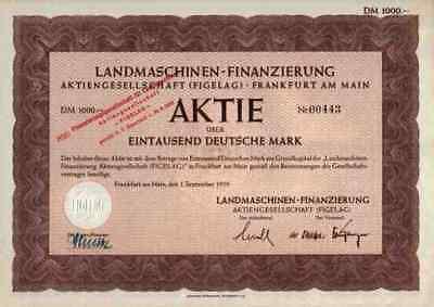 FIGELAG Traktorbank 1950 Berlin Frankfurt Gottmadingen Historische Wertpapiere