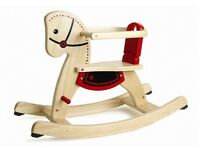 Rocking horse natural wood. Mint condition