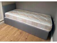 Single Divan Bed Base & Headboard ! Mattress (Optional)