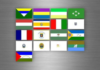 Board sticker tag flags region province states nicaragua