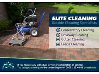 Conservatory Cleaning, Driveway Cleaning, Gutter Cleaning, Fascia Cleaning