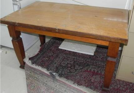 ANTIQUE DINING TABLE OR WORK-SHOP TABLE MAPLE WOOD