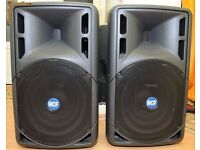 RCF 315 powered/active speakers great condition with covers £500 WREXHAM MAY PX FOR SMALLER SET