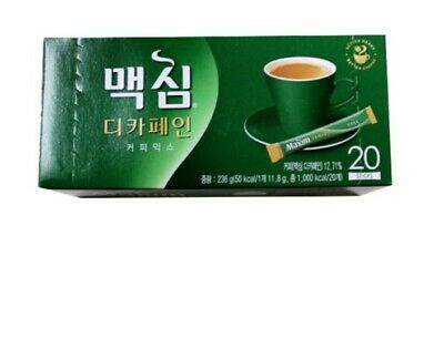 Korea Maxim Decaffeinated Instant Coffee Mix 20 Sticks 1Box