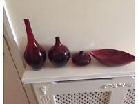 Set if 3 vases