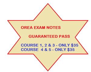OREA EXAM NOTES AND QUESTIONS $35