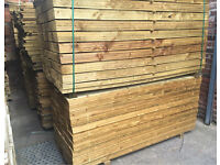 🌲Feather Edge Tanalised Wooden Fencing Boards/ Panels/ Pieces > Various Sizes🌲