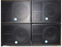 Rcf esw 1018 bass bins