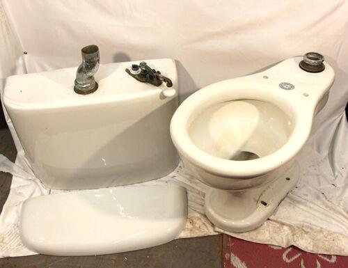 Antique Crane Toilet Wall Mount Tank Great Condition Porcelain Push Flush Handle