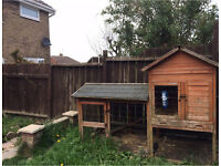 Large rabbit hutch & run