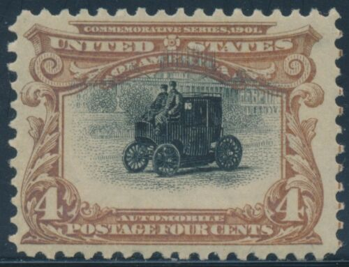 "#296 Var. ""high Shifted Car"" Into Upper Frame -- Og Nh --  Bt9043"