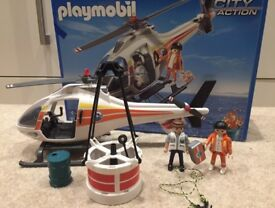 Playmobil helicopter set