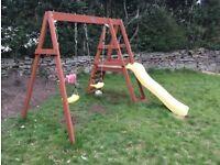 Plum climbing frame slide swing
