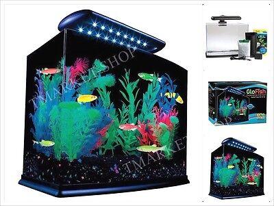 GloFish 3 Gallon Aquarium Kit w/ Cover, Frame, LEDs, Power &