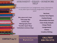 ESSAY AND ASSIGNMENT WRITING HOMEWORK SERVICE AVAILABLE