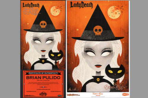 Brian Pulido Bryan Fyffe SIGNED Lady Death Wicked Ways #1 Variant Comic & Print