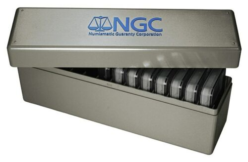 Storage Plastic Box for DOUBLE THICK  NGC SLABS ~ Each Box Holds 14 COINS ~ New!