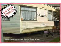 HOLIDAY DISCOUNTS! SANDS: Sandy Bay, Towyn, N.Wales: 3-bed caravan for holidays