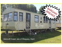 HOLIDAY DISCOUNTS! ALS VAN: Ashcroft Coast, Isle of Sheppey, Kent: 3-bed static caravan for holidays