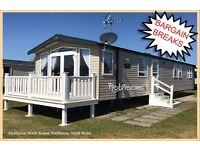 HOLIDAY DISCOUNTS! ROBINSONS: Presthaven Beach Resort,Prestatyn,N.Wales: 3-bed caravan for holidays