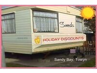 SANDS: HOLIDAY DISCOUNTS: Sandy Bay, Towyn: 3-bed (6-berth) static caravan: HOLIDAY LETS ONLY