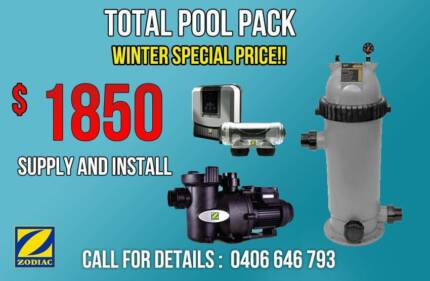 Total pool starter pack *pump*filter*chlorinator supply + install Penrith Penrith Area Preview