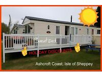 SUNSET DECK: HOLIDAY DISCOUNTS: Ashcroft Coast, Isle of Sheppey: 3-bed (8-berth) static caravan