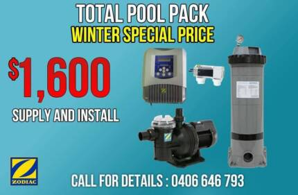Total Pool Pack Supply and Install Pump,Filter,chlorinator Penrith Penrith Area Preview