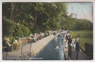 Dorset Postkarte - Kinder Ecke, Bournemouth - P/U 1907 (A866)