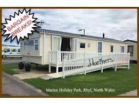HOLIDAY DISCOUNTS! MARINERS: Marine Holiday Park, Rhyl, N.Wales: 3-bed caravan for holidays