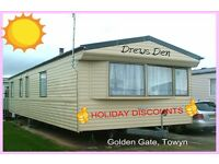 DREWS DEN: HOLIDAY DISCOUNTS: Golden Gate, Towyn: 3-bed (6-berth) static caravan: HOLIDAY LETS ONLY